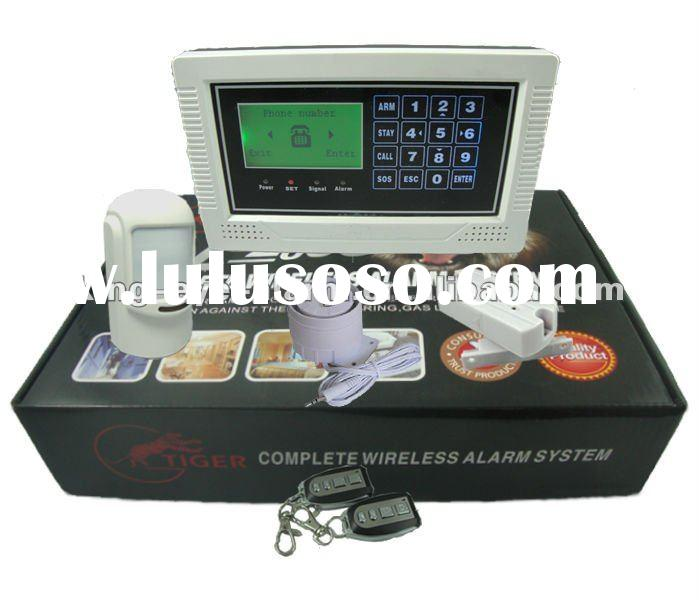 2012 Latest LCD GSM security auto dial home wireless alarm with touch screen keypad KI-G300B