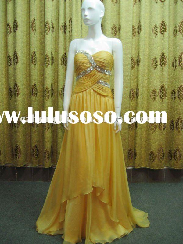 2012 best selling fishtail evening dress HH001