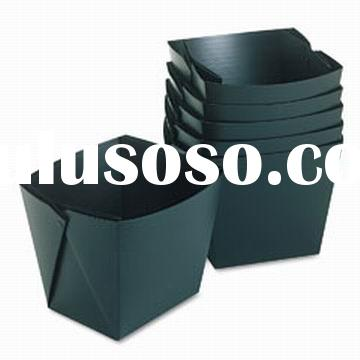 2012 new style foldable office corrugated plastic waste paper indoor dustbin refuse receptacle (YF70