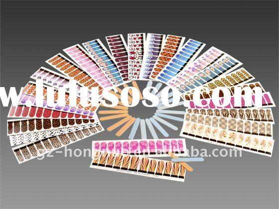 25 Designs Nail Art Water Decal Sticker Full cover tips HN327