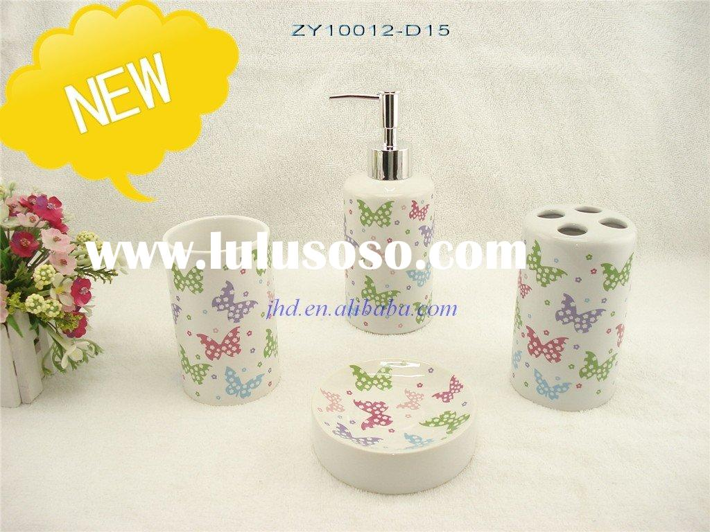 4 PCS Bathroom accessories sets with decal( Wal - mart supplier)