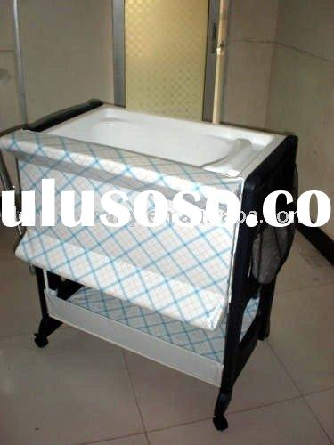 Baby change table 4 drawer dresser with bathtub white for Changing table for bathroom