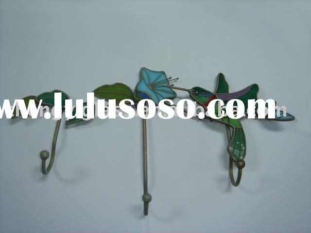 Beautiful Stained Glass Bird Hanging Hooks