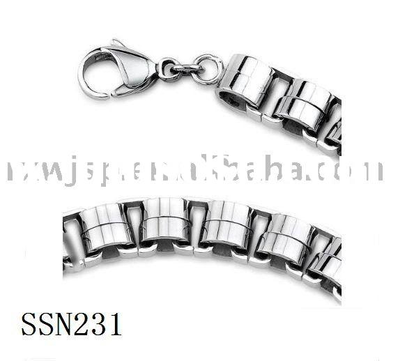 Bikers style Rolo Chain Link Mens Stainless Steel Necklace