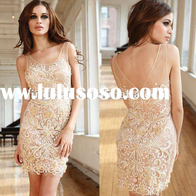 Charming short dress all over lace evening dress fashion 2012 by Terani couture designer dresses SC1