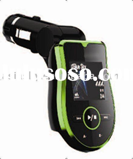 China Hot sell, USB 2.0 connector, mp3 car fm transmitter, support SD/MMC Card