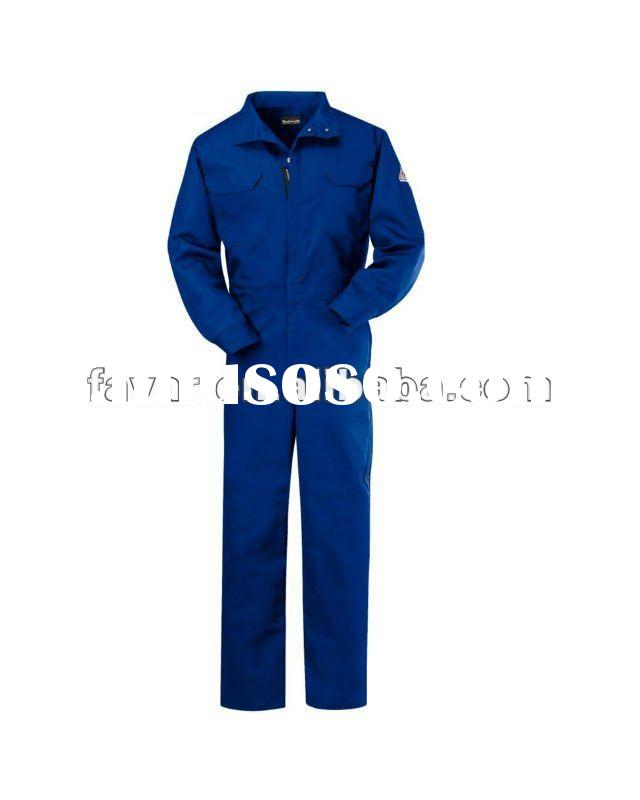 Cotton Navy Flame Resistant Deluxe Workwear Uniforms Safety Working Clothes Boiler Suits