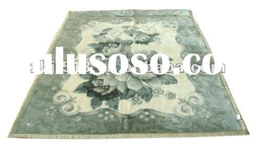 Double-sided cut flowers blankets polyester (631)
