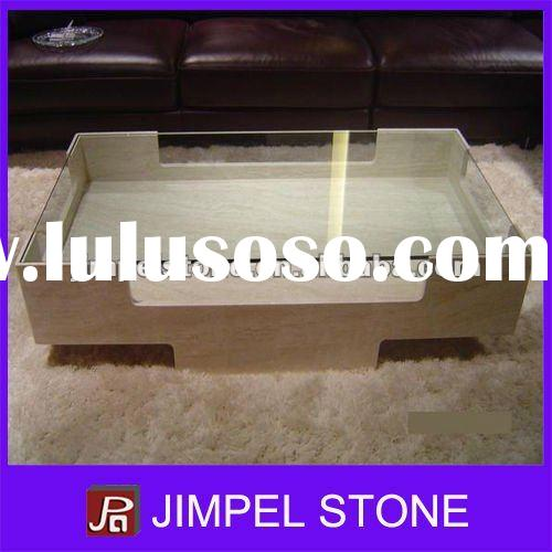 Glass Top Marble Table Base