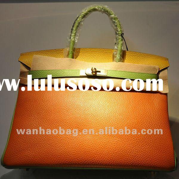 High quality brand colorful Women Leather bags handbags