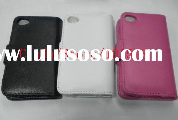 Hot selling Hand-Stitched Leather Wallet Case Cover For iPod Touch 4