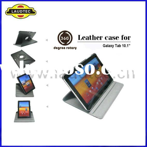 New Design 360 Degree Rotation Leather Flip Case with Stand for Tablet Samsung Galaxy Tab 10.1 GT P7