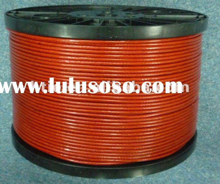 PVC coated galvanized steel wire rope 7*7