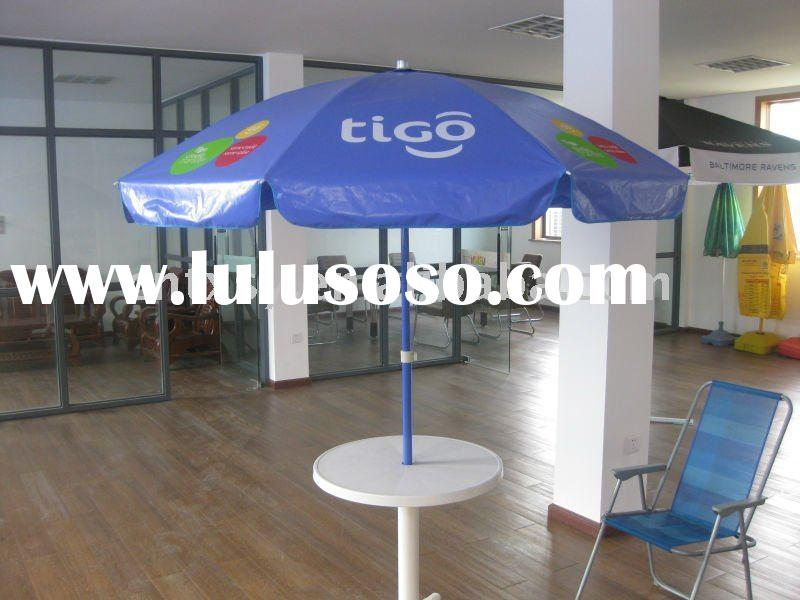 PVC(vinyl) beach umbrella with TIGO printing