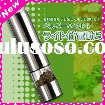 Stainless Steel Electric Salt and Pepper mill, cooking equipment