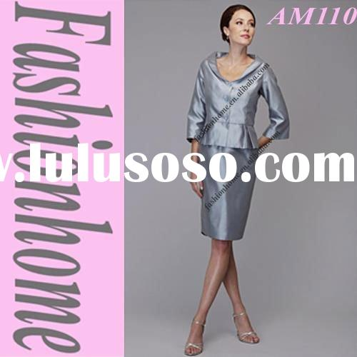 Top quality Women fashion outfit , Silver lady party dress, Two pieces suit AM110