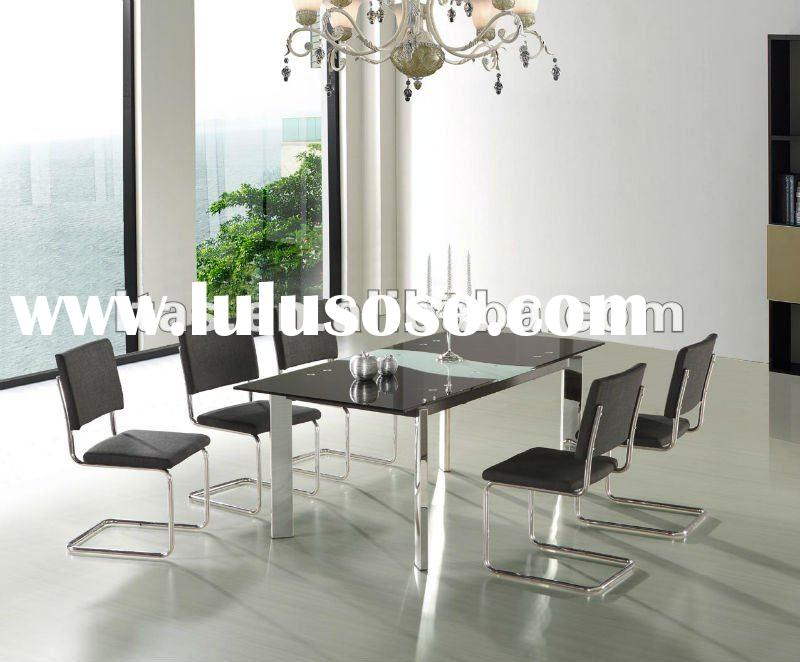 Top sale furniture extendable tempered glass dining table (D860)