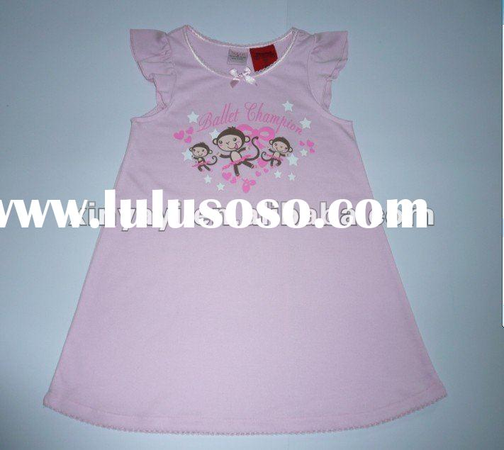 children frock with printing