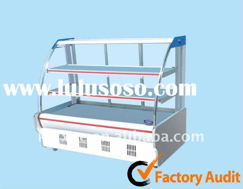 display cooler/refrigerated showcase for restaurant, fast food shop, deli food, fresh food & dis