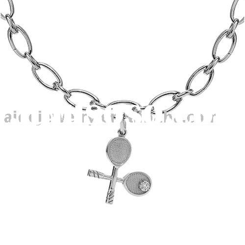 fashion mens silver necklace jewelry P521