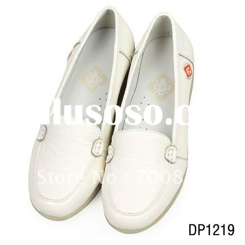 fashion popular genuine leather women shoes for nurse and doctor