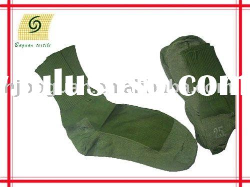 military army cotton or spandex olive green sock