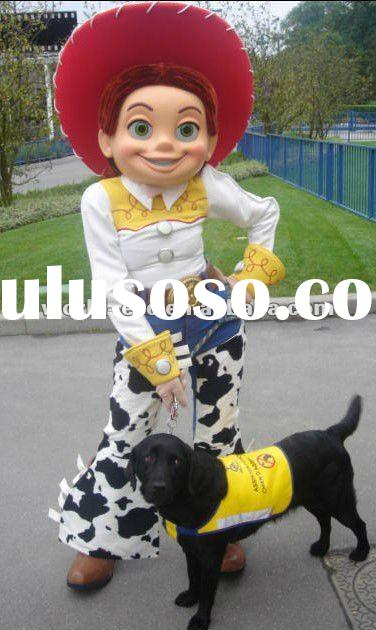 most popular highest quality jessie mascot costume, movie toy story cartoon costume, carnival cow gi