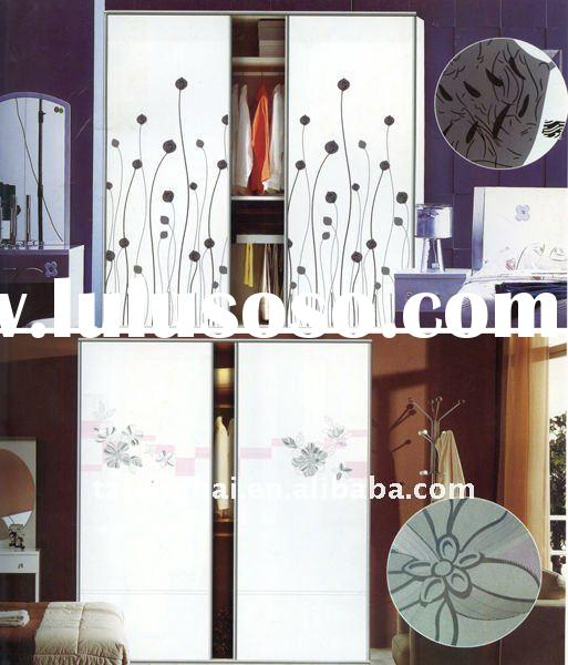 paint coated glass 3D galss,acid etched decorative glass