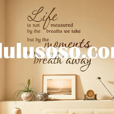 removable vinyl wall decal quote