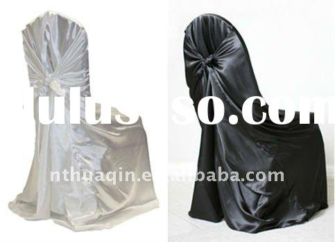self-tie satin chair cover universal satin chair cover disposable chair cover