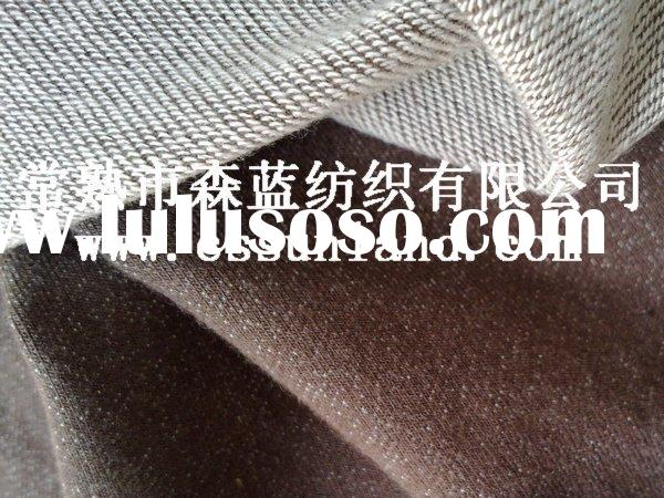 spandex/ polyester/ cotton knitted denim fabric