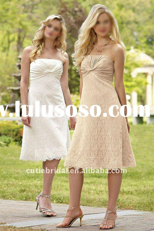 tea length lace bridesmaid dresses,country bridesmaid dresses 3881