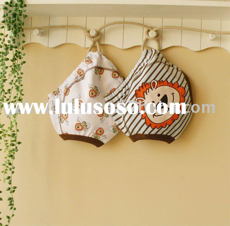 2011 summer mom and bab baby clothes 100% cotton embroider boy training pants 2pcs