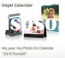 4:6 hand perfect DIY desk calendar with glossy photo paper sheets,2 plastic binding rings and paper