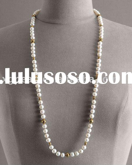 8-9mm AA Grade Long style freshwater Pearl Necklace