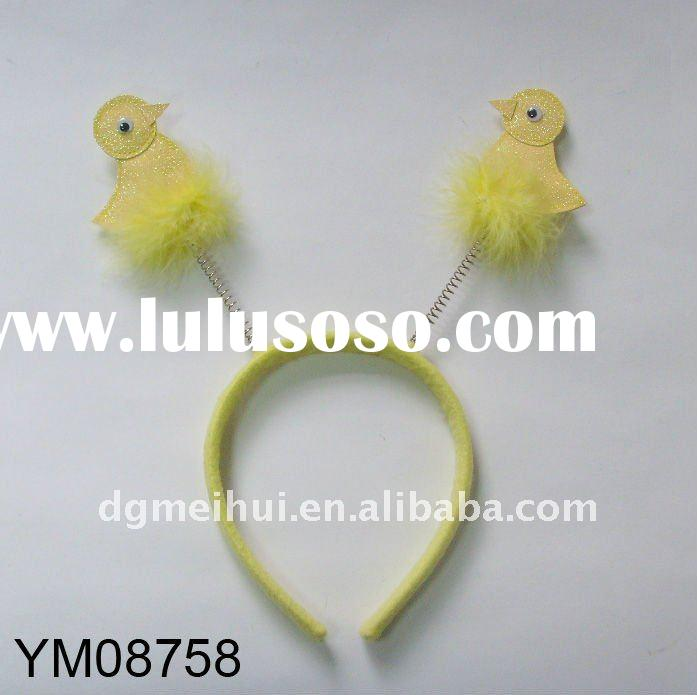 Easter hair accessories for bird hairband with yellow feather