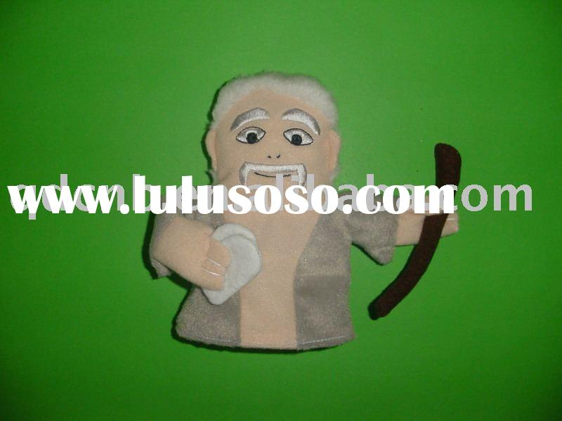 Hand Puppet Mini Hand Puppet Mini Plush Embroidery Hand Puppet Old Man King Knight Toy