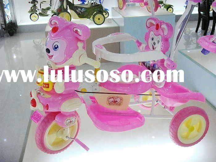KIDS RIDE ON TRICYCLE PINK TRIKE WITH MUSIC