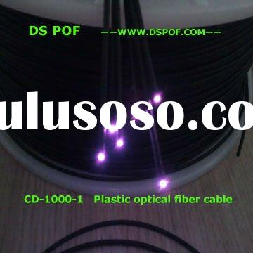 Low attenuation, light transmission, Black jacket, End glow, PMMA plastic fiber optic cable in light