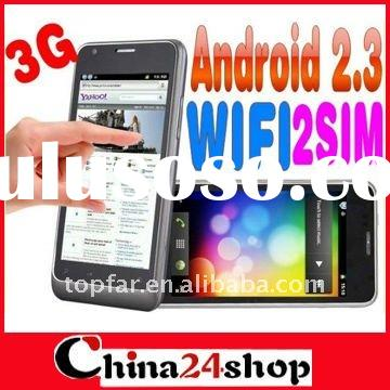 MTK 6573 unlocked phone B63M Dual SIM phone 4.1 '' 3G WCDMA Capacitive Android 2.3 W