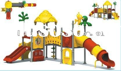 Plastic children outdoor playground equipment for sale with reasonable price
