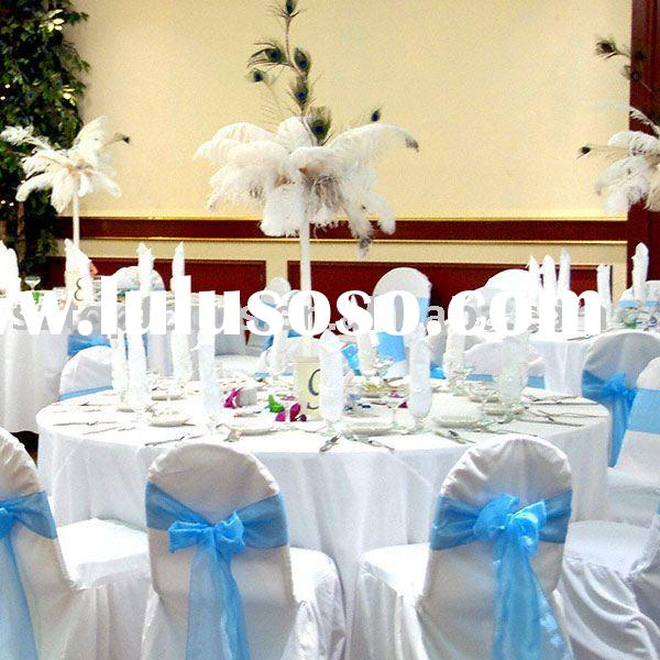 White ostrich feathers wedding centerpiece wholesale for