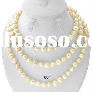 fashion long freshwater pearl long necklace