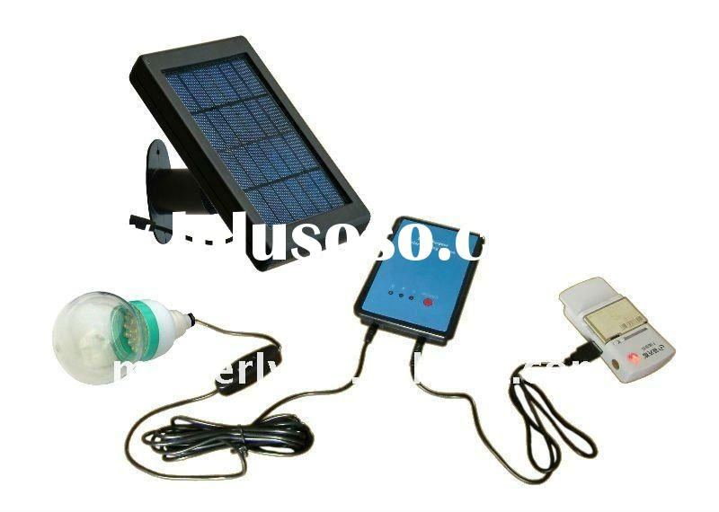 mini portable solar LED tent light with phone charger
