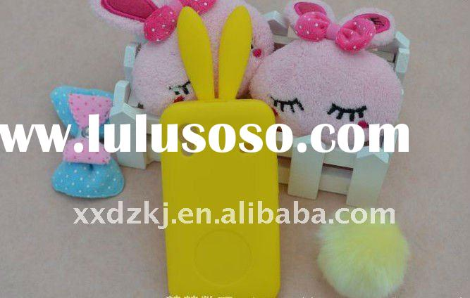very fashion rabbit ear silicone case for samsung galaxy ace s5830