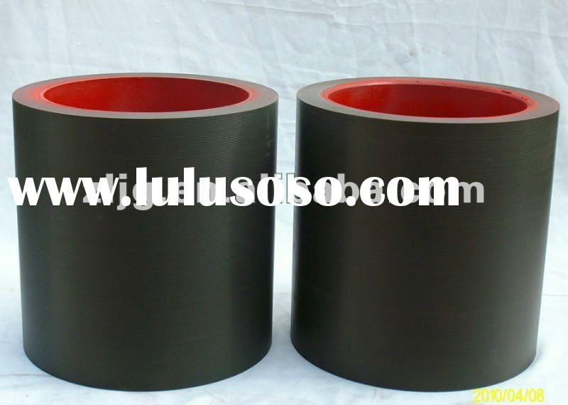 10'' brown SBR/NBR rubber roll on iron drum,rice mill roller