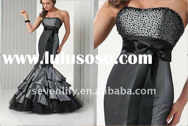 2012 fanshion style best selling chic and elegant mermaid fishtail evening gowns