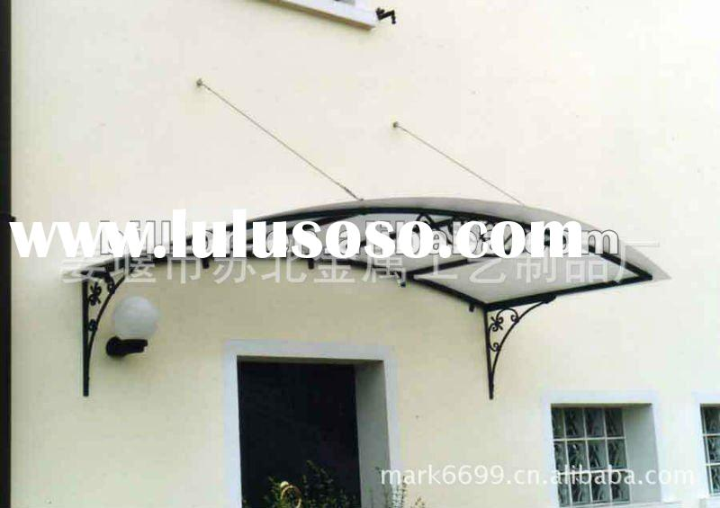 2012 hot sale china manufacturer custom hand forged metal awning for window,door