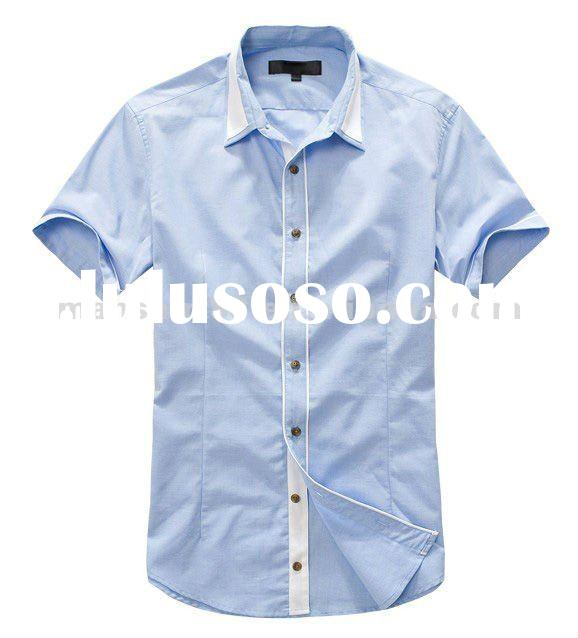 2012 new stylish mens fashion muscle fit casual short sleeve shirt