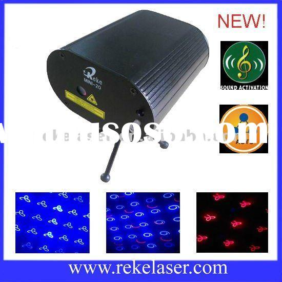 300mw red and blue twinkling mini laser light